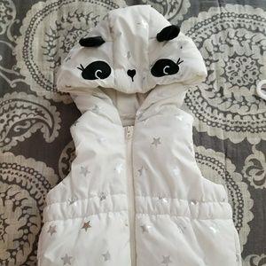 NWT Gymboree Panda Puffer Vest